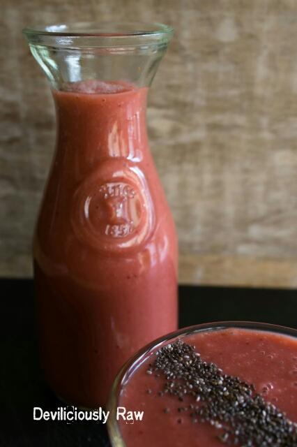 Strawberry & Rhubarb Smoothie