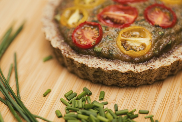 Raw, Vegan Spinach Quiche from Deviliciously Raw