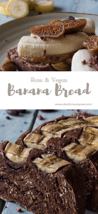 #raw #vegan Triple Chocolate Banana Bread