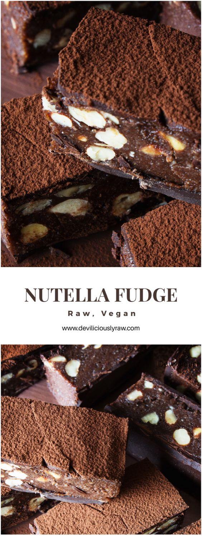 #raw #vegan Nutella Fudge | Deviliciously Raw