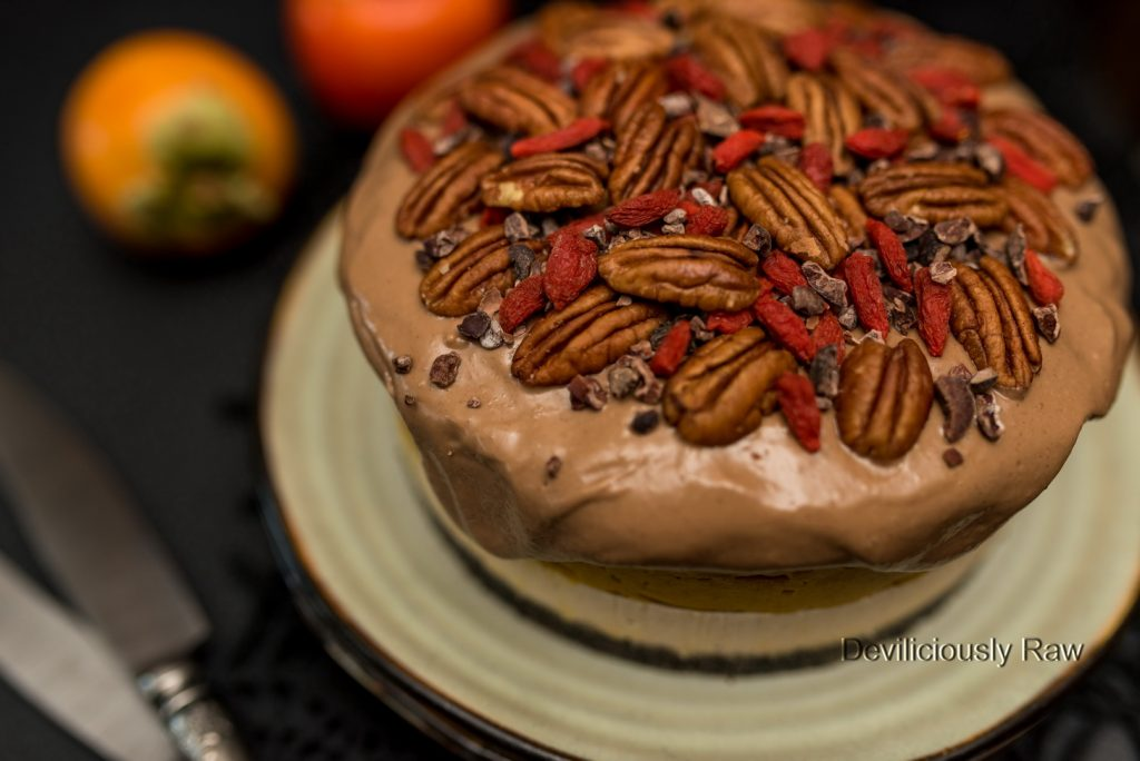 #raw #vegan #nobake Pumpkin Caramel Cake from Deviliciously Raw