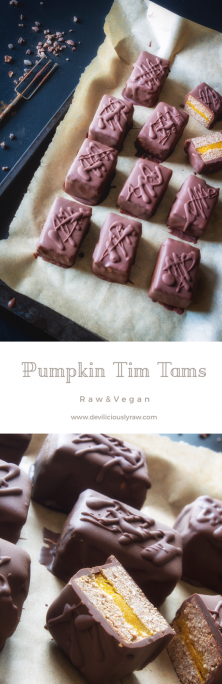 #raw #vegan Pumpkin Tim Tams from Deviliciously Raw