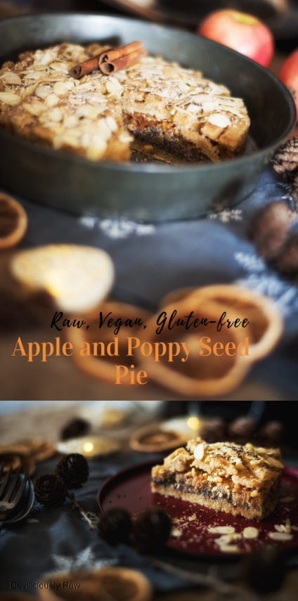 #raw #vegan Apple and Poppy Seed Pie from Deviliciously Raw