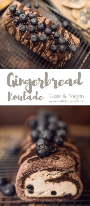 #raw #vegan Gingerbread Roulade | Deviliciously Raw