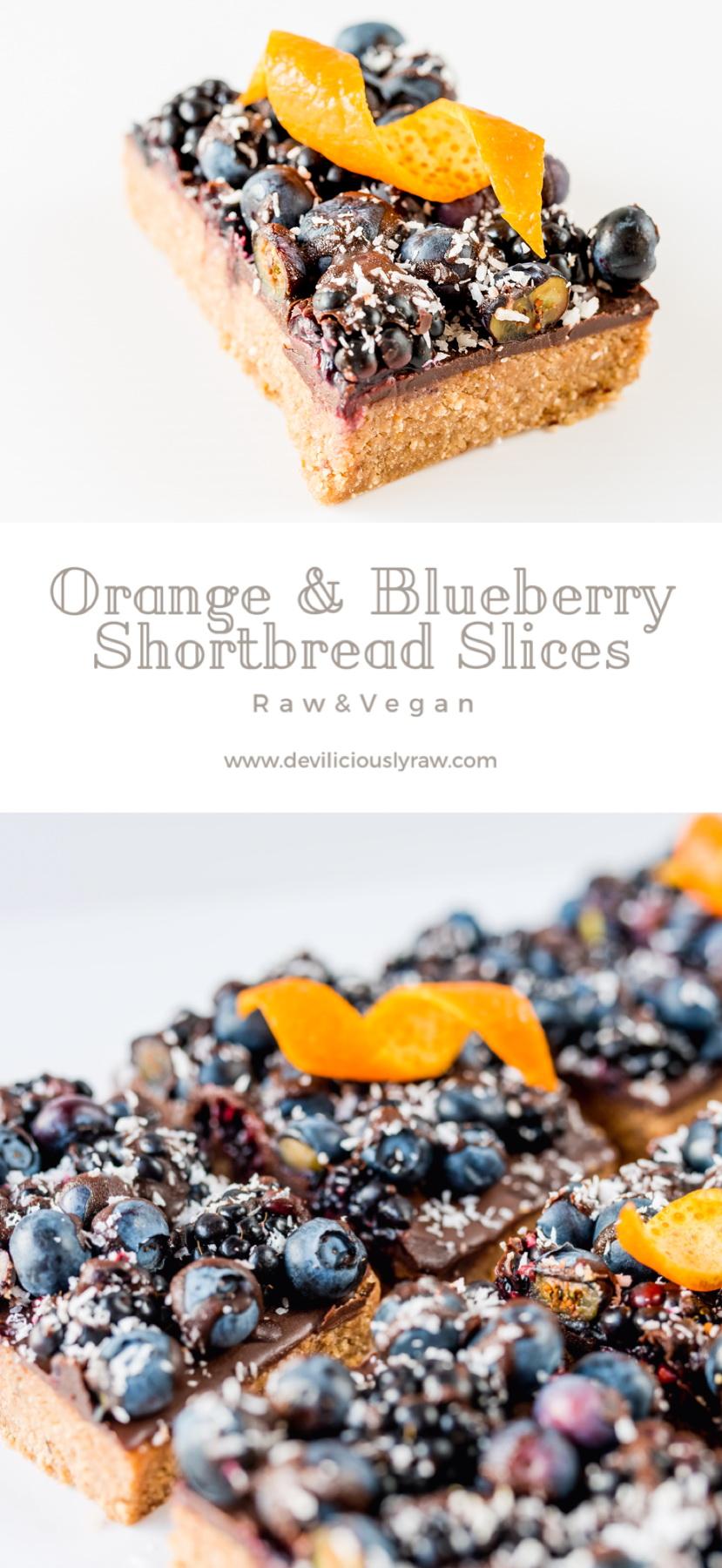 Orange and Blueberry Shortbread Slices