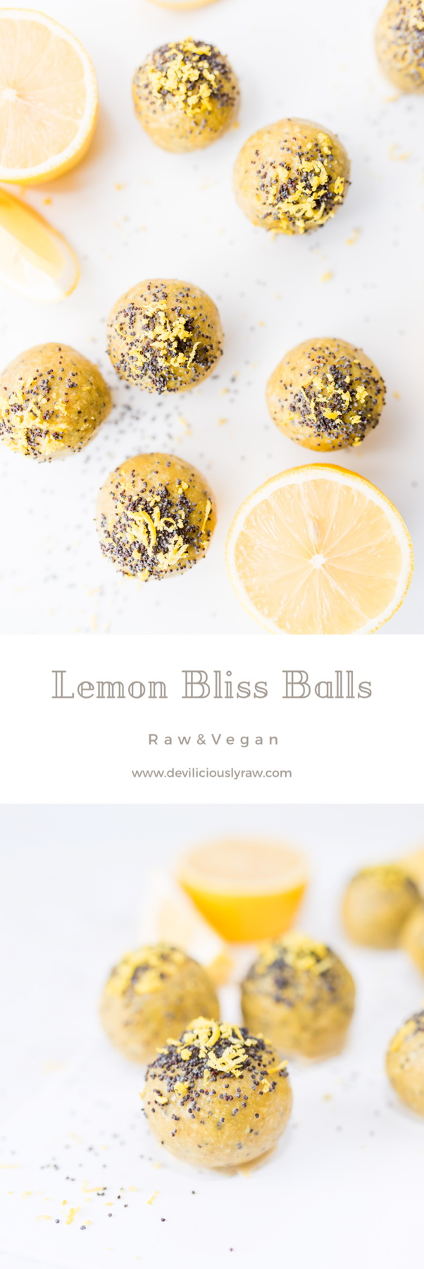 #raw #vegan Lemon Bliss Balls from Deviliciously Raw