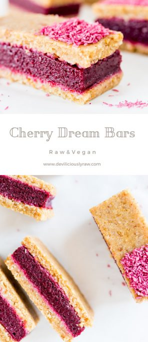 #raw #vegan Cherry Dream Bars from Deviliciously Raw
