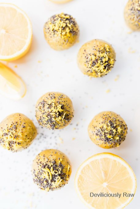 #raw #vegan Lemon Bliss Balls from Deviliciously Raw