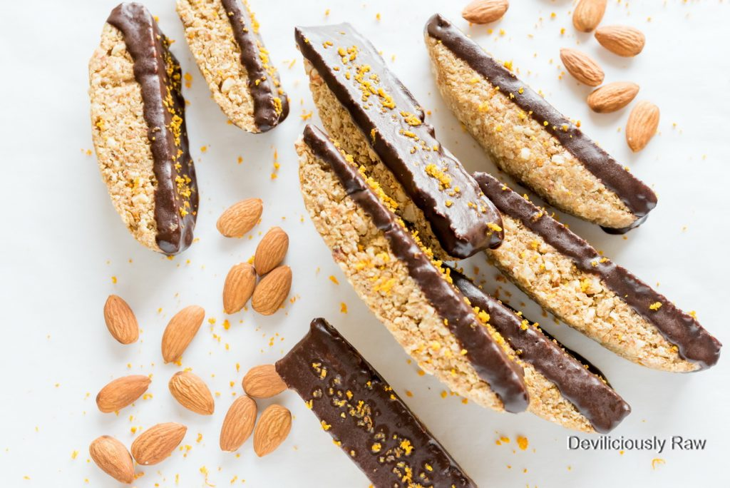 #raw #vegan Chocolate Orange Biscotti from Deviliciously Raw