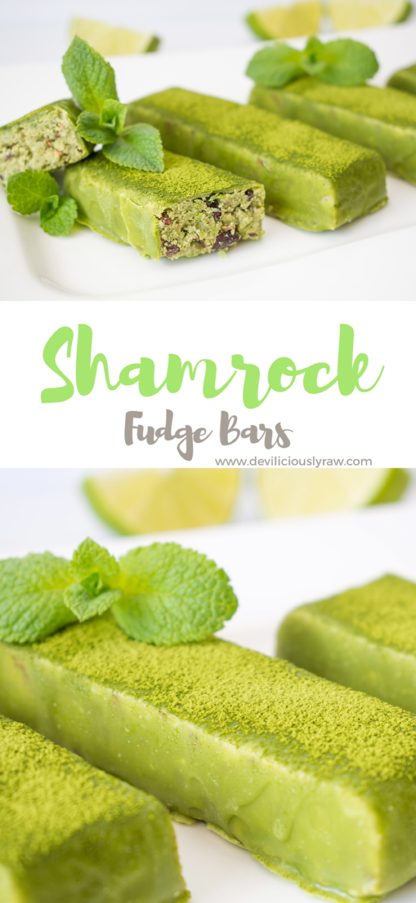Shamrock Fudge Bars