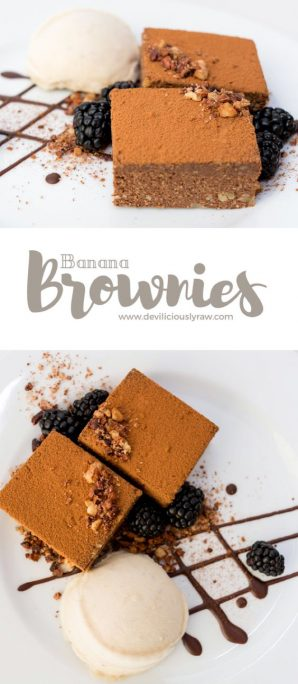 #raw #vegan Banana Brownies from Deviliciously Raw