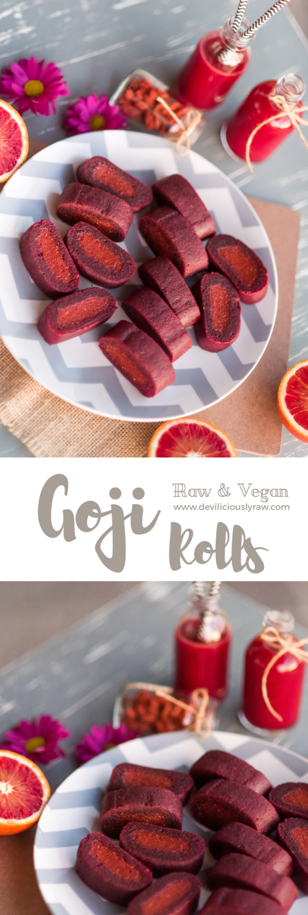 Chewy Goji and Beet Rolls