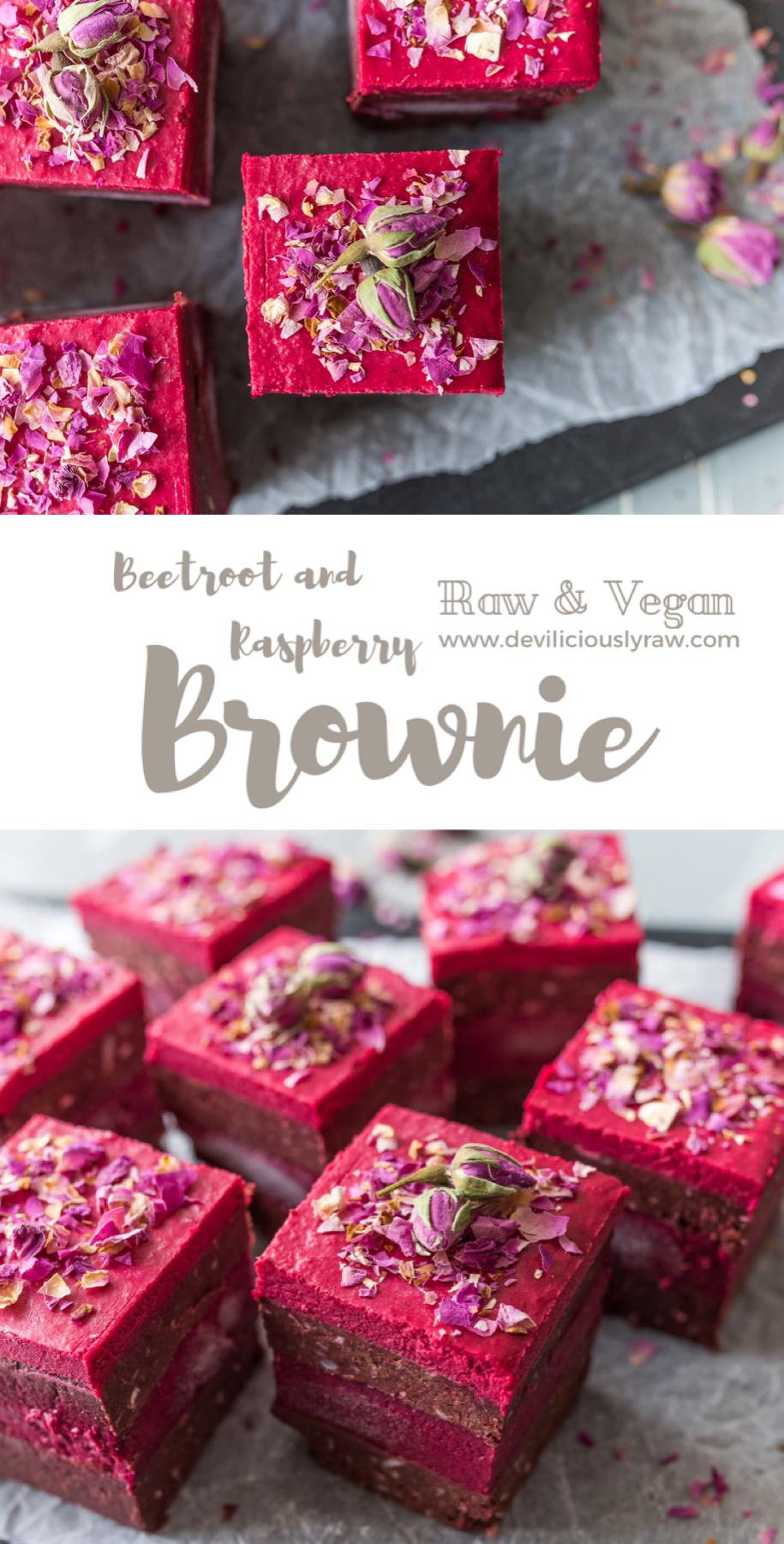 Beetroot and Raspberry Brownie