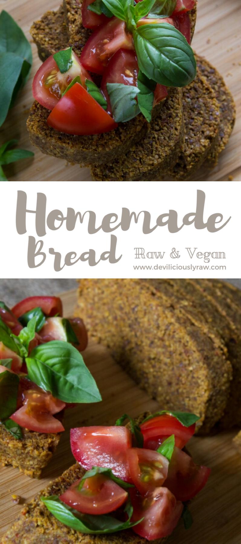 Homemade Raw Vegan Bread