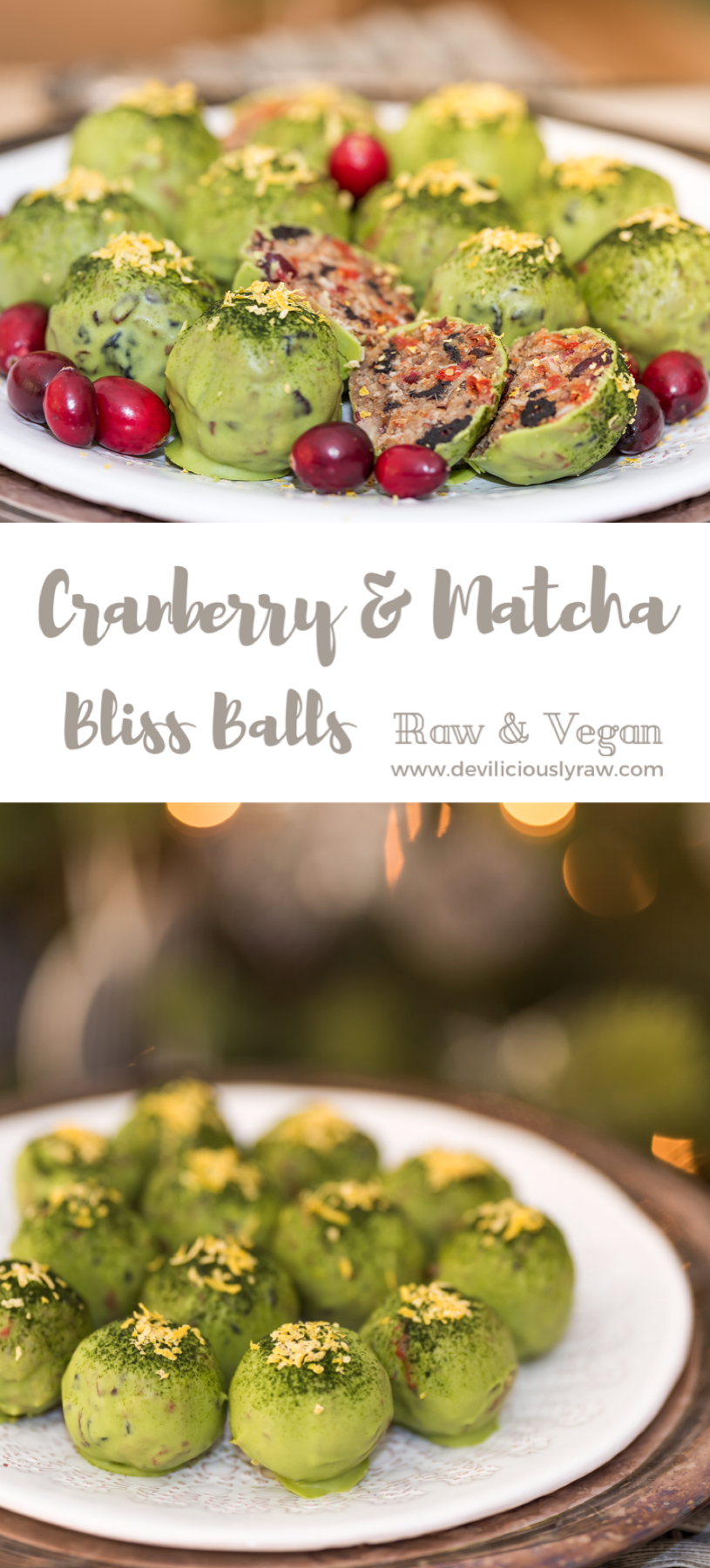 Very Berry Matcha Bliss Balls