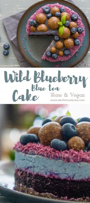 Wild Blueberry Blue Tea Cake