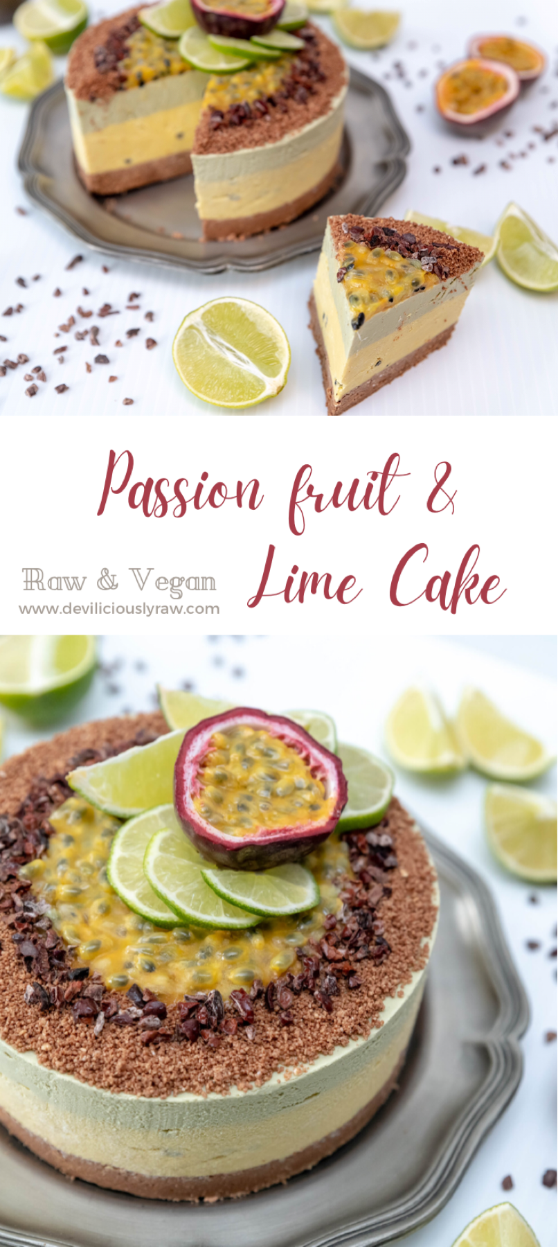 Exotic Passion Fruit and Lime Cake