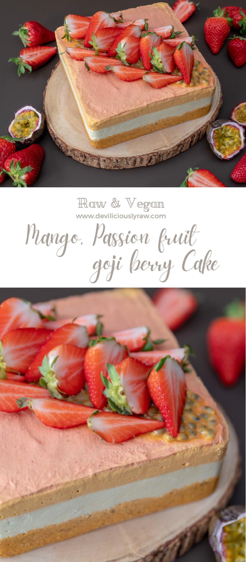 Goji berry, Mango and Passion fruit Cake