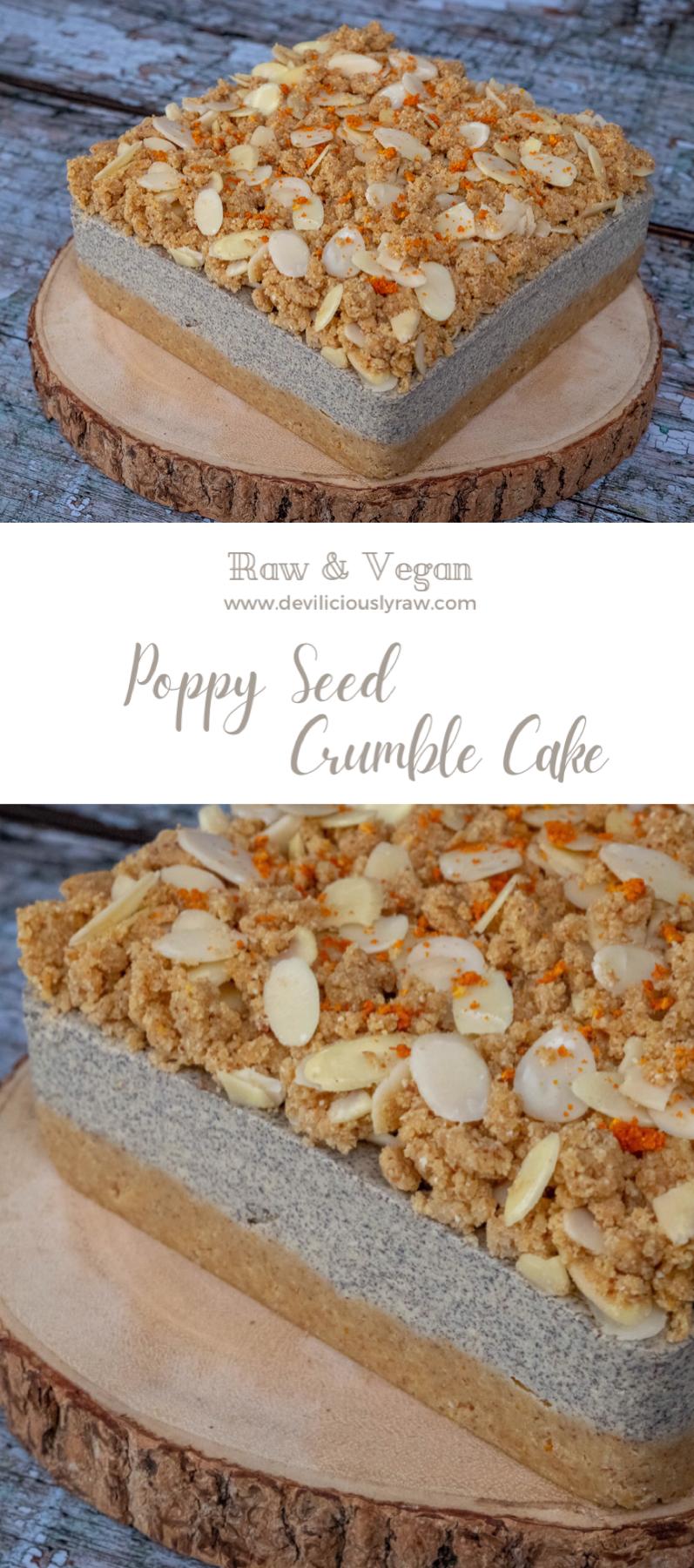 Poppy Seed Crumble Cake