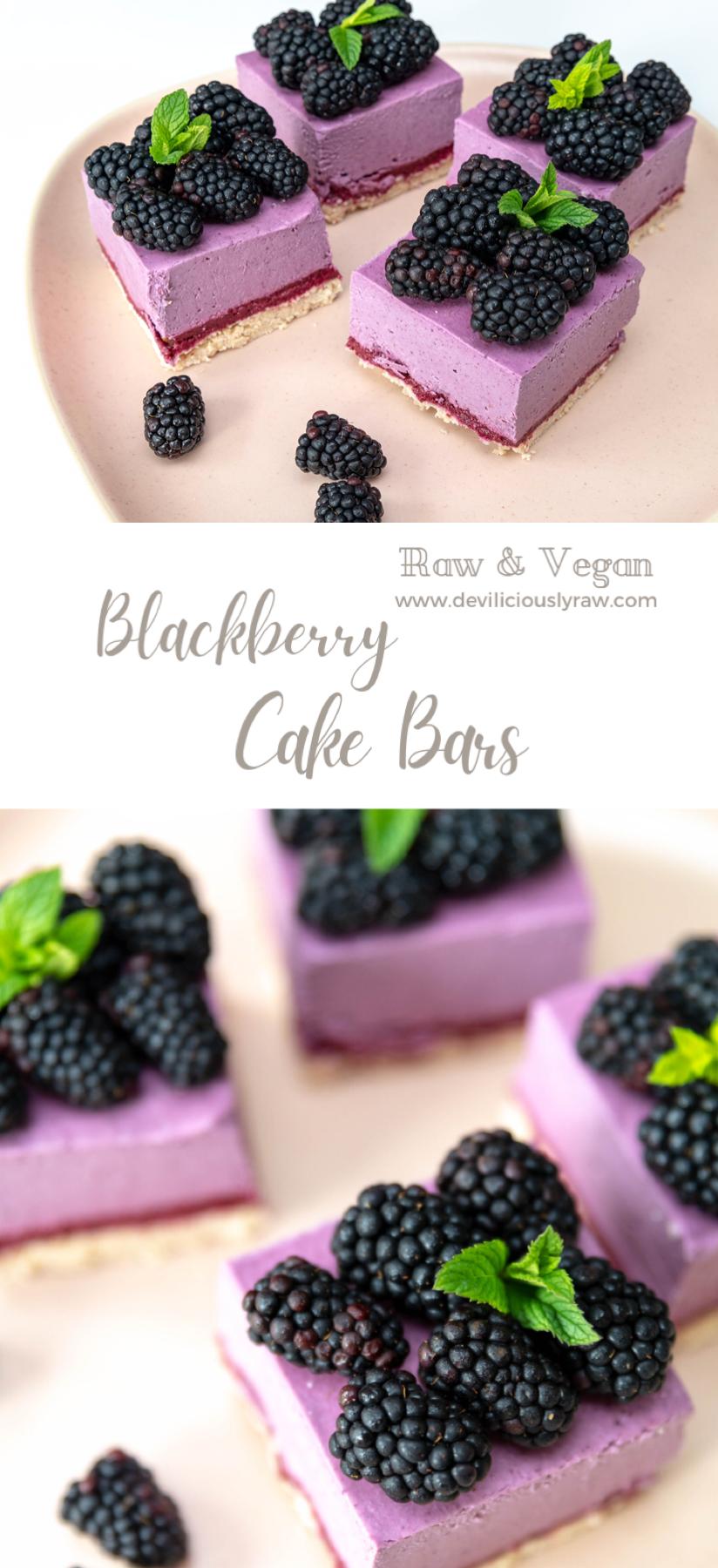 Blackberry Cake Bars