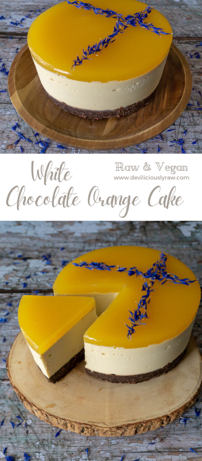 White Chocolate Orange Cake